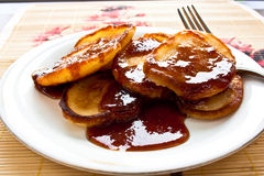 Pancakes with jam on pancake week Stock Photos