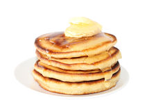 Pancakes with liquid honey (image with clipping path) Royalty Free Stock Photography