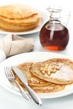 Pancakes with Maple syrup Royalty Free Stock Photo