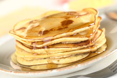 Pancakes with Maple Syrup Stock Photos