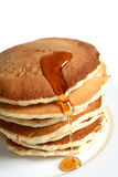 Pancakes and maple syrup Royalty Free Stock Photos