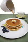 Pancakes with Maple Syrup (Clipping Path) Royalty Free Stock Photography