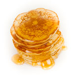 Pancakes with maple syrup Stock Photography