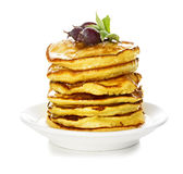 Pancakes with maple syrup Stock Image