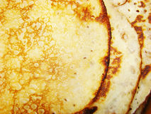 Pancakes milk test Royalty Free Stock Photography
