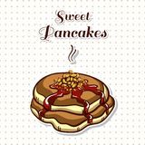 Pancakes With Nuts Royalty Free Stock Photo