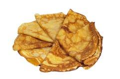 Pancakes On A Plate. Stock Photos