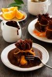 Pancakes with orange Royalty Free Stock Image