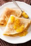 Pancakes with orange marmalade Stock Photo