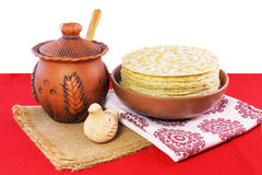 Pancakes on pancake week-1. Traditional pancakes for the spring carnival Stock Photography