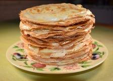Pancakes. Homemade beautiful tasty smack Royalty Free Stock Images