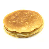 Pancakes pile. On the plate Royalty Free Stock Photos