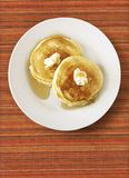 Pancakes on Placemat Royalty Free Stock Photo