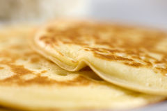 Pancakes on a plate. Photo of pancakes on a plate Stock Photography