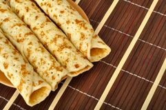 Pancakes on a plate Stock Photo