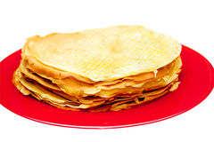 Pancakes on a plate Royalty Free Stock Photo