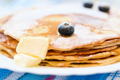 Pancakes on a plate Stock Image