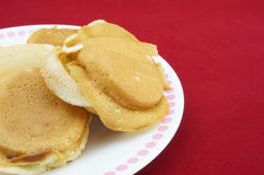 Pancakes on plate Royalty Free Stock Photos