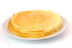 Pancakes on a plate Stock Photos