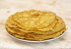 Pancakes on plate Stock Image