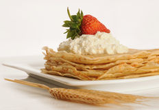 Pancakes on the plate Royalty Free Stock Images