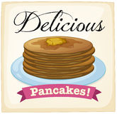Pancakes poster Stock Images