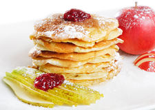 Pancakes powdered with sugar Stock Photos