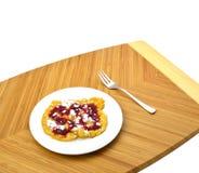 Pancakes with raspberry jam Royalty Free Stock Photo