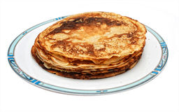 Pancakes ready to be filled with syrup Royalty Free Stock Photo