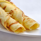 Pancakes - rolled Royalty Free Stock Photo