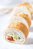 Pancakes rolles with cottage cheese Royalty Free Stock Photo