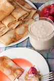 Pancakes rolls Stock Images