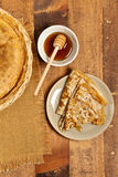 Pancakes or Russian Blintzes Royalty Free Stock Image