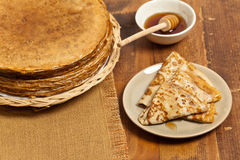 Pancakes or Russian Blintzes Stock Photography