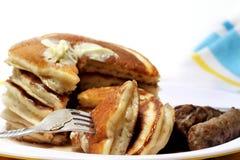 Pancakes And Sausage Stock Photography