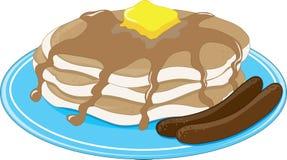 Pancakes Sausage Stock Images