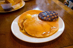 Pancakes and Sausage Royalty Free Stock Images