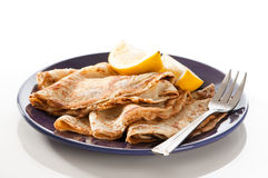 Pancakes For Shrove Tuesday Royalty Free Stock Photos
