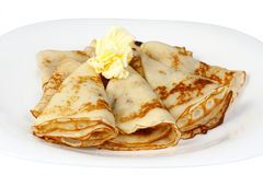 Pancakes for Shrove Tuesday Stock Photos