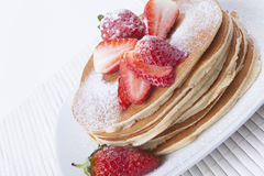 Pancakes with Snow Royalty Free Stock Images