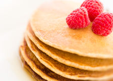 Pancakes. Stack of pancakes with fresh berries Stock Photography