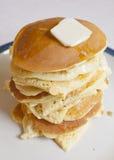 Pancakes. A stack of homemade pancakes Stock Photos