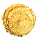 Pancakes stack isolated on white background Royalty Free Stock Photo