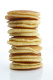 Pancakes. A stack of plain pancakes on a white background stock photos