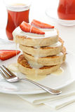 Pancakes and strawberry Royalty Free Stock Photo