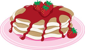 Pancakes Strawberry Stock Photo