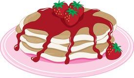Pancakes Strawberry Stock Photo