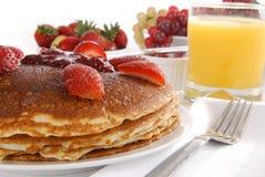 Pancakes with strawberry jam Royalty Free Stock Photos