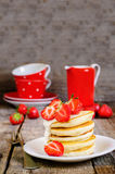 Pancakes with strawberry Royalty Free Stock Photo