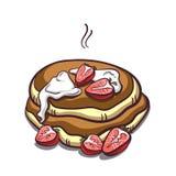 Pancakes Strawberry On White Royalty Free Stock Image